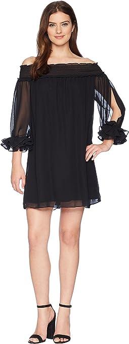 CeCe - Shiloh - Off the Shoulder Smocked Dress