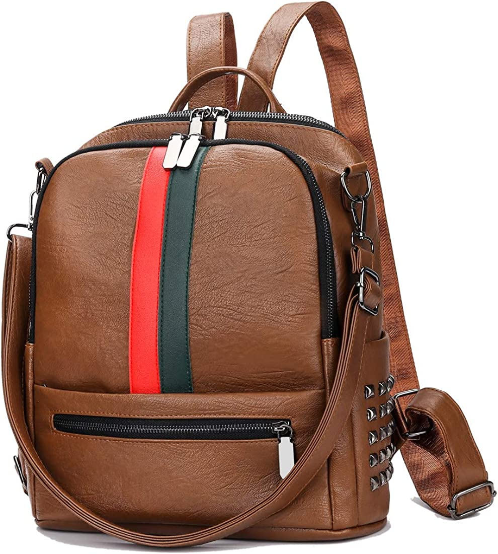 Artwell Backpack Purse For Women PU Leather Rucksack Fashion Sma