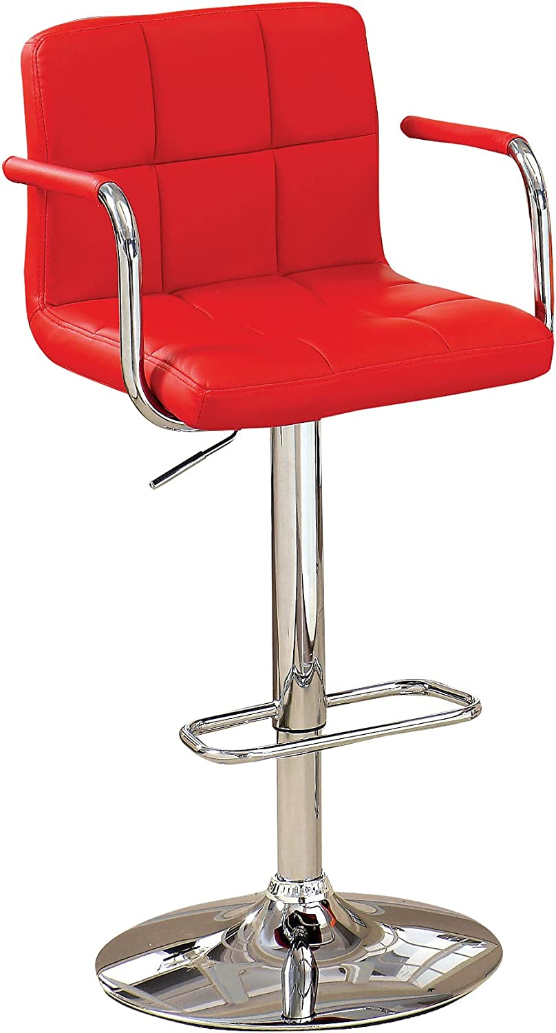 Furniture Of America Modern Chelsea Leatherette Swivel Bar Stool Red Furniture Decor