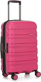 Antler Juno 2 4W Cabin Roller Carry-On Hardside, Pink, 56cm
