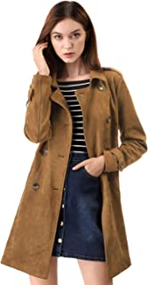 womens long brown leather jacket