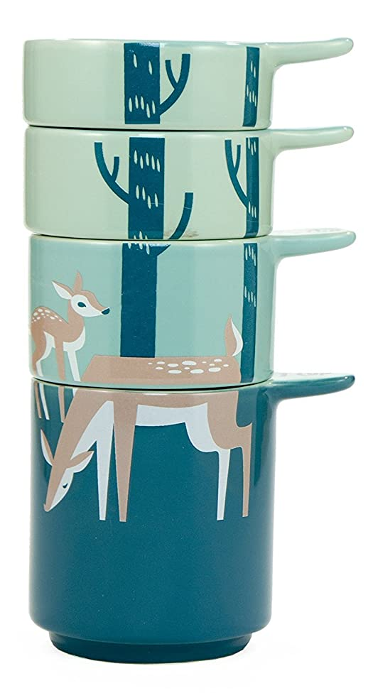 New 2017 Deer Theme Ceramic Measuring Cups by Kitsch'n Glam