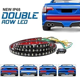 """Fuguang LED 60""""Double Row Tailgate light Bar Truck IP68 Flexible Strip Running Light Brake Revers Turn Signal Light For SUV Pickup tailer 216Leds High brightness White &Red DC12V"""