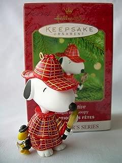 2000 Hallmark Ornament The Detective # 3 Spotlight On Snoopy Series