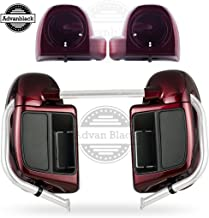 Us Stock Advanblack Mysterious Red Sunglo Lower Vented Fairings 6.5 inch Speaker Pods Fit for Harley Touring Road Glide Street Glide Electra Glide Ultra Classic 2014 2015 2016 2017 2018