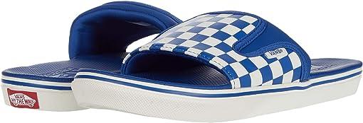 (Checkerboard) True Blue/Marshmallow