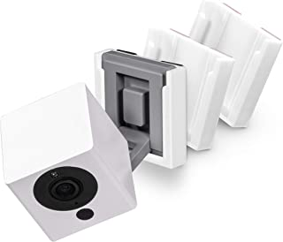 Fast Install Wall Mount for Wyze Cam V2 with Strong VHB Tape, No Screws & Mess, Wyzecam Bracket Holder (3 Pack, White) by ...