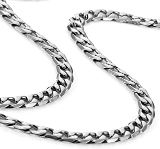 Classic Mens Necklace 316L Stainless Steel Silver Chain...