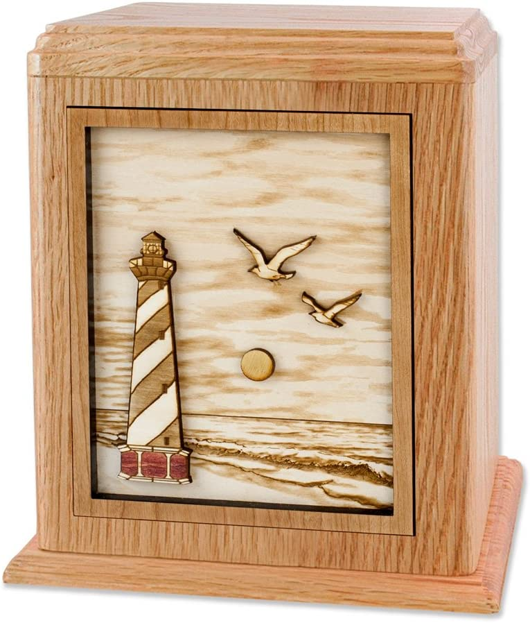 Wooden Cremation Urn - Cape 3-Dimensional Luxury Max 40% OFF In Lighthouse Hatteras