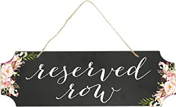 Creekside Shoppe Chalkboard Style 15.5 x 5 Rustic Wedding Sign, Reserved Row, Wedding Decor