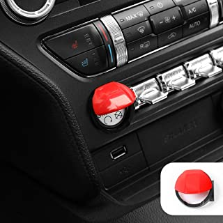 Voodonala Red Engine Start/Stop Button Center Console Dashboard Switch Cover Trim for Ford Mustang 2015 2016 2017