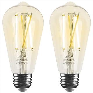 لامپ هوشمند LED Geeni LUX Edison ST21 (ST64) Edison WiFi LED ، 2700K -6500K 8W ، E26 Base ، قابل تنظیم ، نور سفید قابل تنظیم ، سازگار با آمازون الکسا