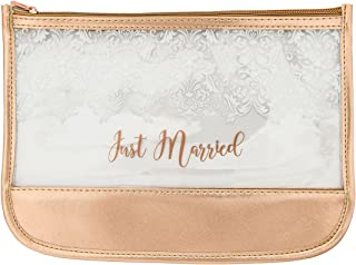 MIAMICA Women's just Married Bridal Pouch or Beach Bag and Totes, Rose Gold, One Size