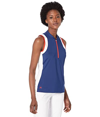 adidas Golf USA Color-Block Sleeveless Polo