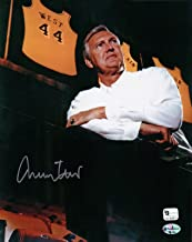 Jerry West Signed 8X10 Autograph Photo Retired Jersey in Rafters GAI COA