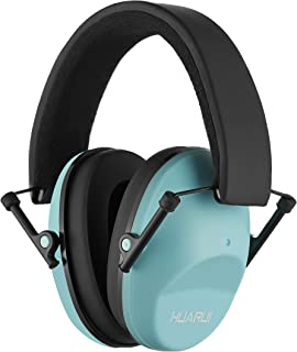 NoiseCancellingEarMuffs for Shooting Hunting, Adjustable Shooting Ear Muffs,Shooters Ear Protection Safety Ear Muffs, Lightweight Ear Muffs Noise Protection|HUARUI (Lake Blue)