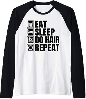 Hairdresser Lover Gift Funny Hairdresser Apparel Barber Raglan Baseball Tee