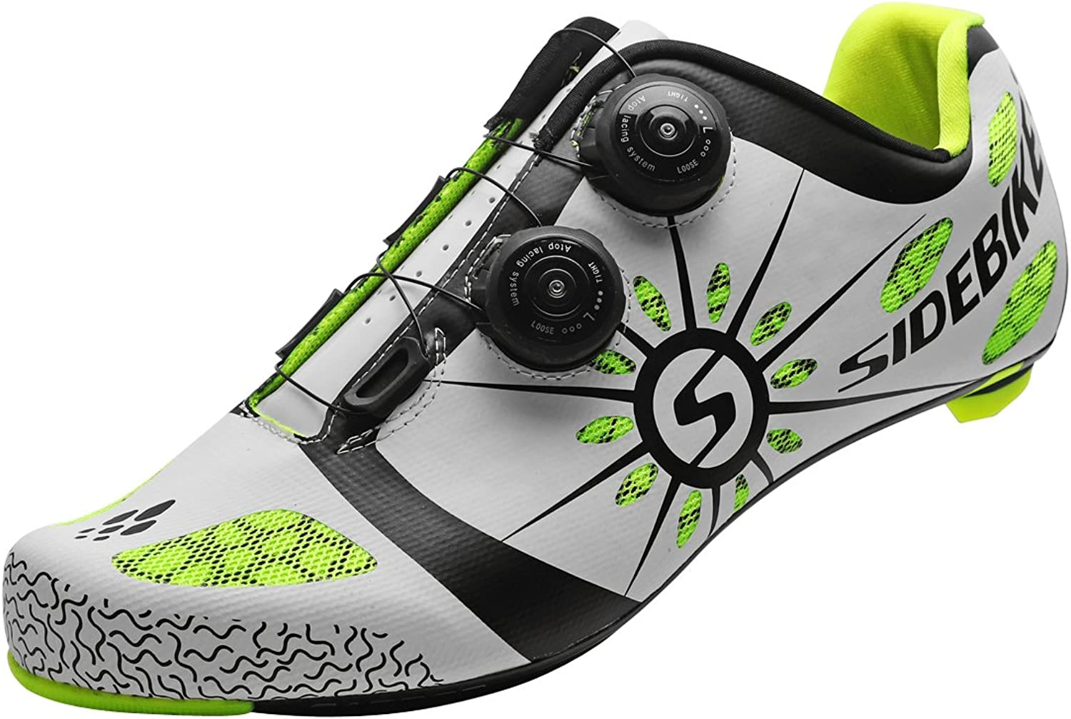 SIDEBIKE Carbon Fiber Cycling shoes for Road Reel Knob Speed Lacing System Breathable 008