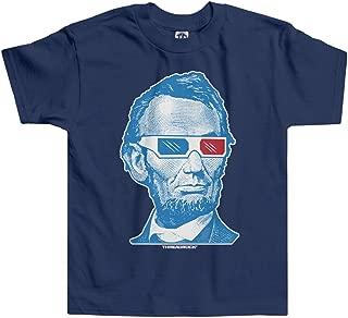 Little Boys' Abraham Lincoln 3D Glasses Toddler T-Shirt