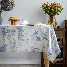 Glory Season Rustic Tablecloth Classic French Village Printed Linen Fabric Table Cover Farmhouse Decoration 55x102 Inches ...