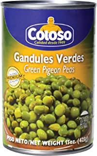 Coloso Green Pigeon Peas in Water ( Gandules Verdes en Agua ) 15 Oz ( 425 g) canned (Pack of 1)