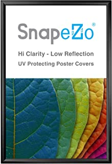 SnapeZo Poster Frame 28x42 Inches, Black 1.2 Inch Aluminum Profile, Front-Loading Snap Frame, Wall Mounting, Premium Series