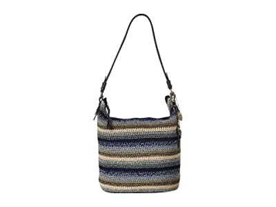 The Sak Sequoia Crochet Hobo (Indigo Stripe) Hobo Handbags