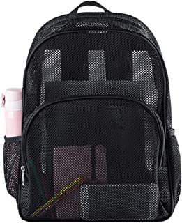 Heavy Duty Semi-Transparent Mesh Backpack, See Through...