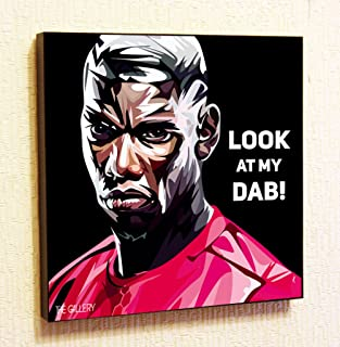 Paul Pogba Manchester United MU Football Club Motivational Quotes Wall Decals Pop Art Gifts Portrait Framed Famous Paintings Canvas Poster Prints (10x10