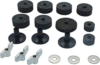 18 Pieces Cymbal Replacement Accessories Cymbal Felts Hi-Hat Clutch Felt Hi Hat Cup Cymbal Stand Sleeves Cymbal Felts with Cymbal Washer & Base Wing Nuts