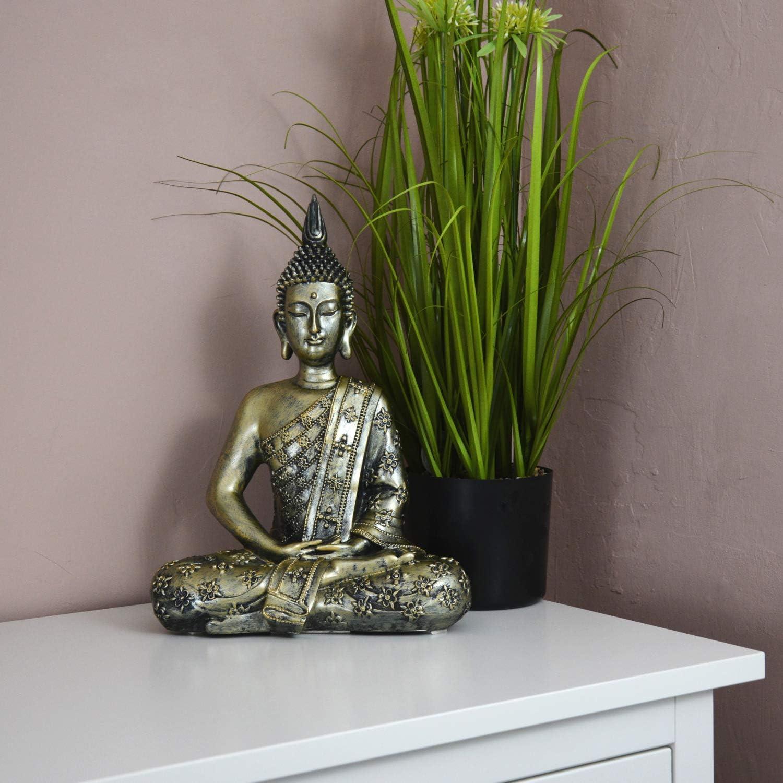 Amazon.de INtrenDU Buddha Figur groß 20cm meditierend Buddhismus ...