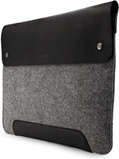 MegaGear Funda de Piel y Forro Polar para MacBook de 13,3 Pulgadas, Color Gris