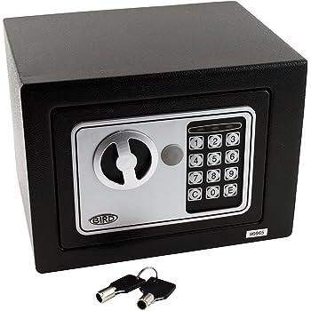 BIRD - Caja fuerte digital para oficina o uso doméstico, para montaje en pared o suelo (23 cm x 17 cm x 17 cm): Amazon.es: Bricolaje y herramientas