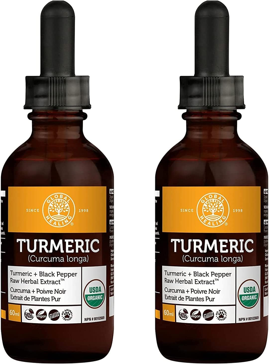 Global Healing Organic Turmeric with Chicago Mall Black Liquid Extract Pepper Ultra-Cheap Deals