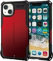 エレコム iPhone 13 2眼 ハイブリッドケース 耐衝撃 ZEROSHOCK レッド PM-A21BZERORD