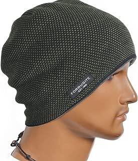 Cool Men Roll Knit Beanie Rectangular Winter Skullcap Top Hat B816 (B5032-Green)