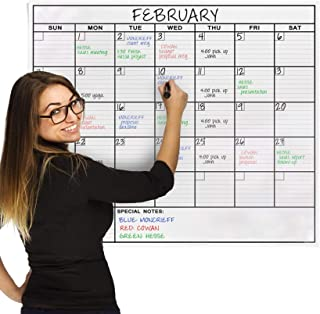 Dry Erase Laminated Jumbo Wall Calendar, Huge 24-inch by36-Inch Size, Monthly Planner for Home Office, Classroom, Large Da... photo
