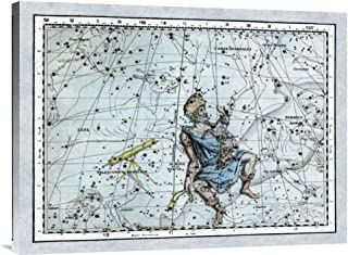 Global Gallery Budget GCS-450143-2432-142 Alexander Jamieson Maps of The Heavens: Auriga The Charioteer Gallery Wrap Gicle...