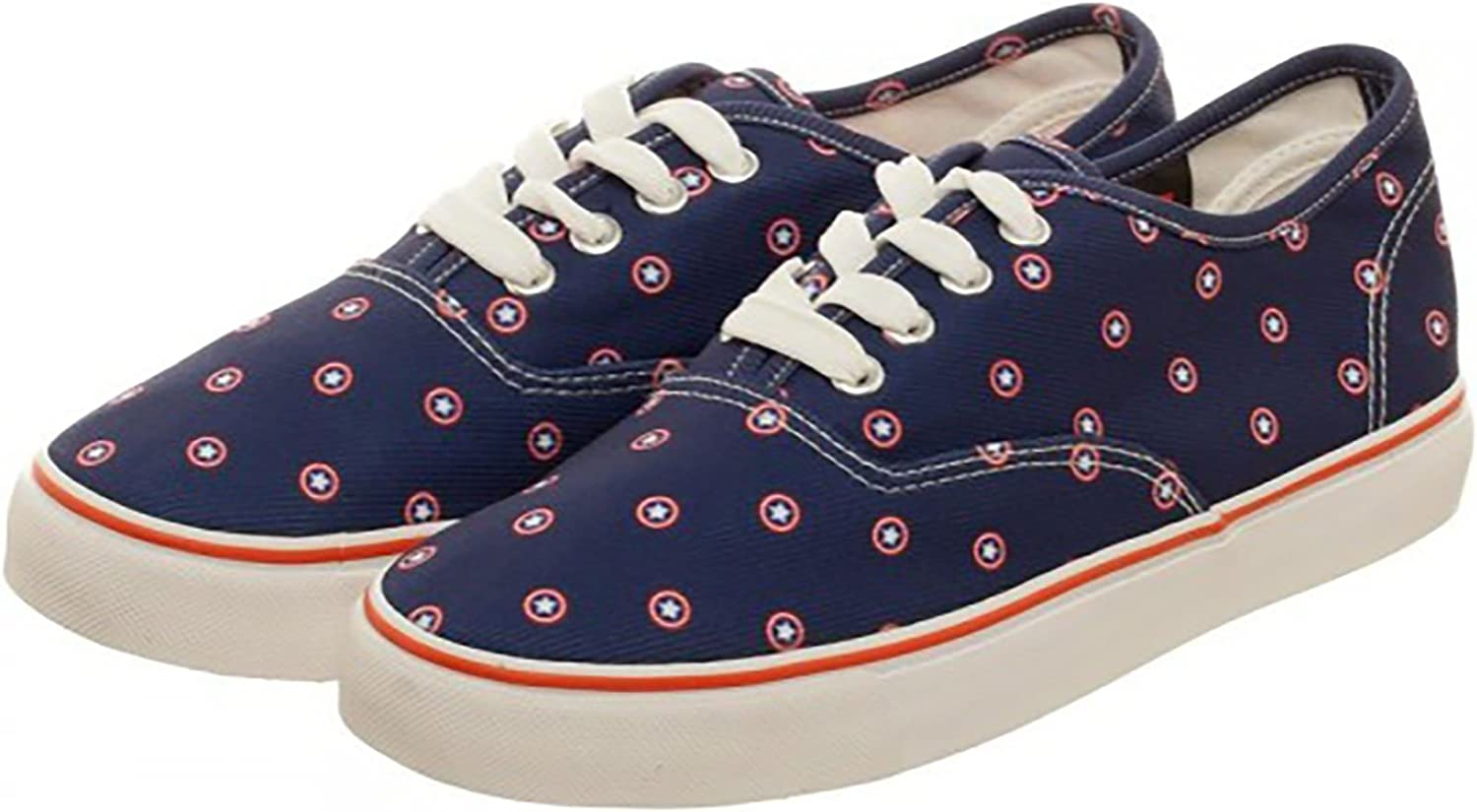 Marvel Captain American Navy Womens Canvas shoes Size 6.5