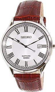 Seiko Reloj de Cuarzo para Hombre con Correa de Cuero –