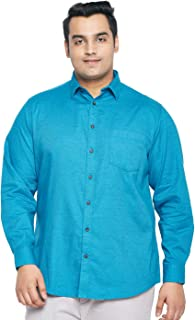 aLL Plus Size Men Solid Regular Fit Casual Shirt