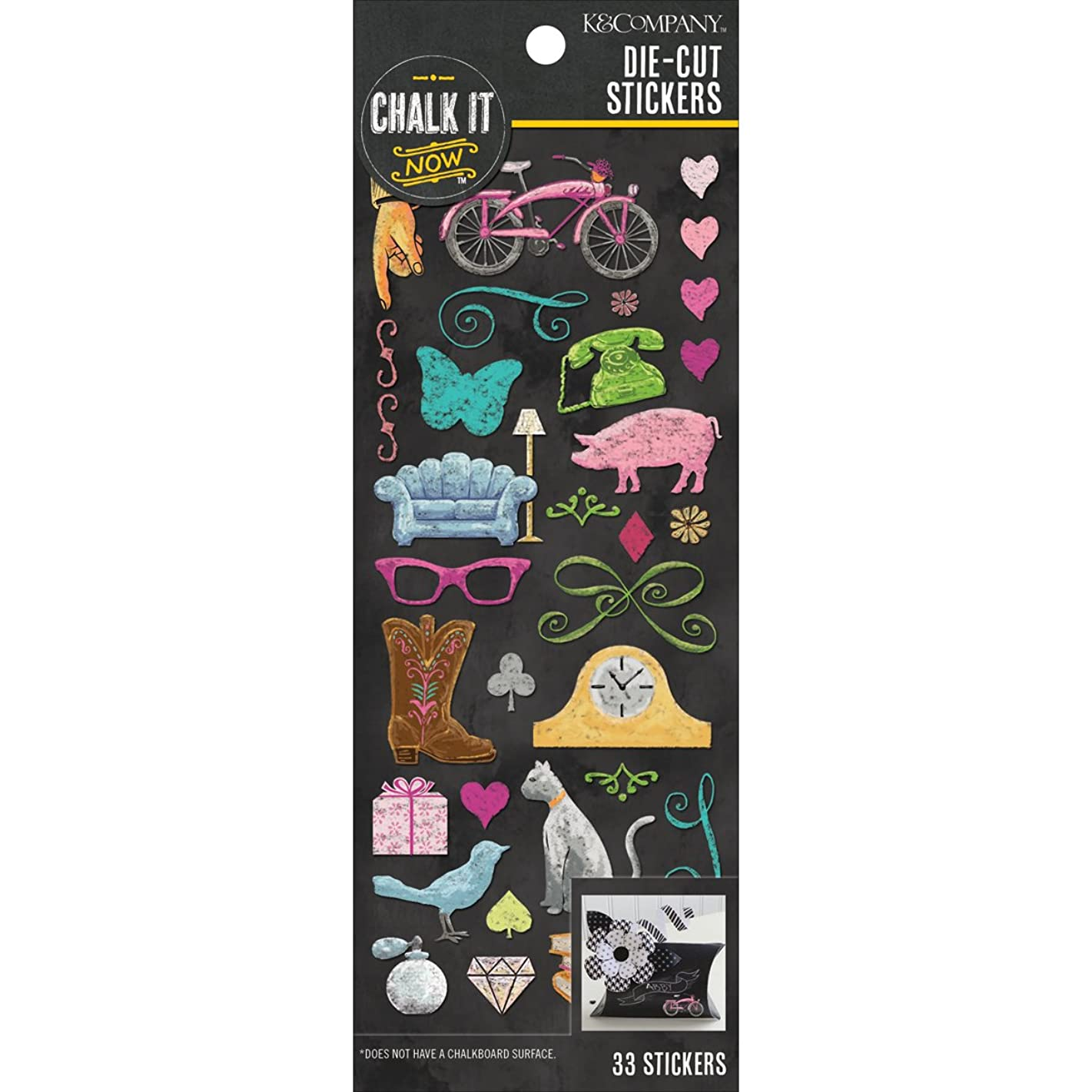 Chalk It Now Die-Cut Stickers-Nostalgic