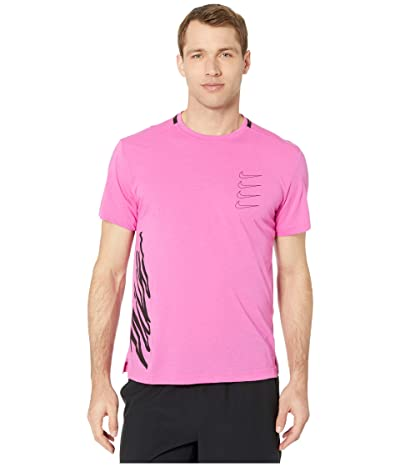Nike Top Short Sleeve PX (Active Fuchsia/Laser Crimson/Black) Men