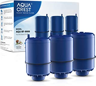 AQUACREST RF-9999 Water Filter, Replacement for Pur RF9999 Faucet Water Filter, Pur Faucet Model FM-2500V, FM-3700, PFM150W, PFM350V, PFM400H, PFM450S, Pur-0A1 (Pack of 3)
