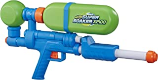 Nerf Super Soaker XP100 Water Blaster – Air-Pressurised Continuous Blast – Removable Tank – for Kids, Teens, Adults