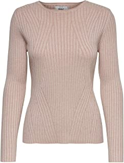 Only Onlnatalia L/S Rib Pullover Knt Noos Suéter para Mujer
