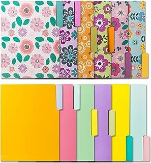 12 Colored File Folders -File Folders In Vibrant Colors & Cute Floral Designs -Decorative File Folders -Cute File Folders- Pretty File Folders- Letter Size File Folders -9.5 x 11.5 Inches (Pack of 12)