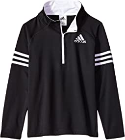 adidas Kids - Quarter Zip Pullover Top (Big Kids)