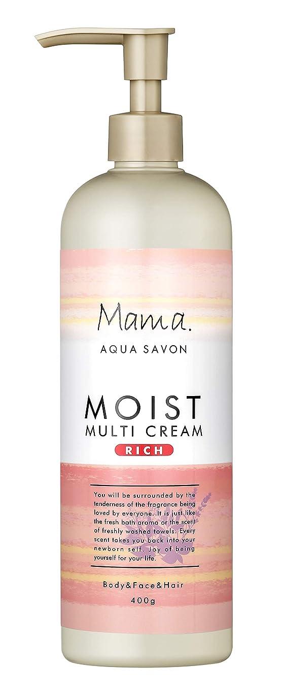 なぞらえる濃度食品ママアクアシャボン モイストマルチクリーム リッチ フラワーアロマウォーターの香り 18A 400g