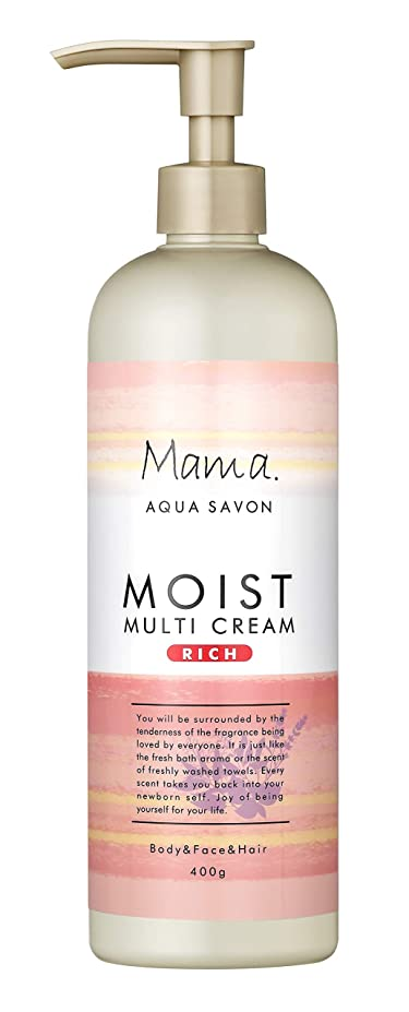 挨拶する粒子できたママアクアシャボン モイストマルチクリーム リッチ フラワーアロマウォーターの香り 18A 400g
